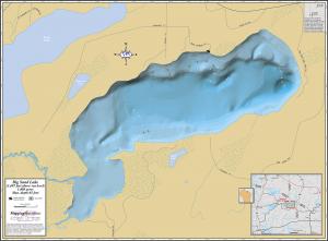 Big Sand Lake Wall Map