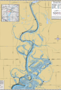 Wisconsin River below Nekoosa Dam Wall Map