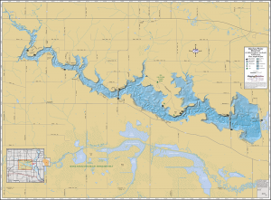 Big Eau Pleine Lake Wall Map