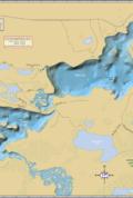 High & Fishtrap Lakes Wall Map