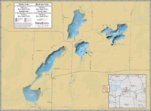 Barber Lake Wall Map