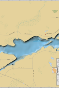 Barker Lake Wall Map
