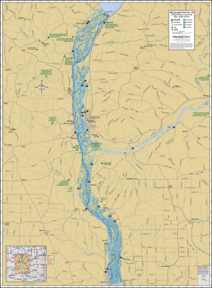 Mississippi River (Pool 10) Wall Map