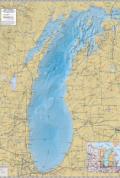 Lake Michigan Wall Map