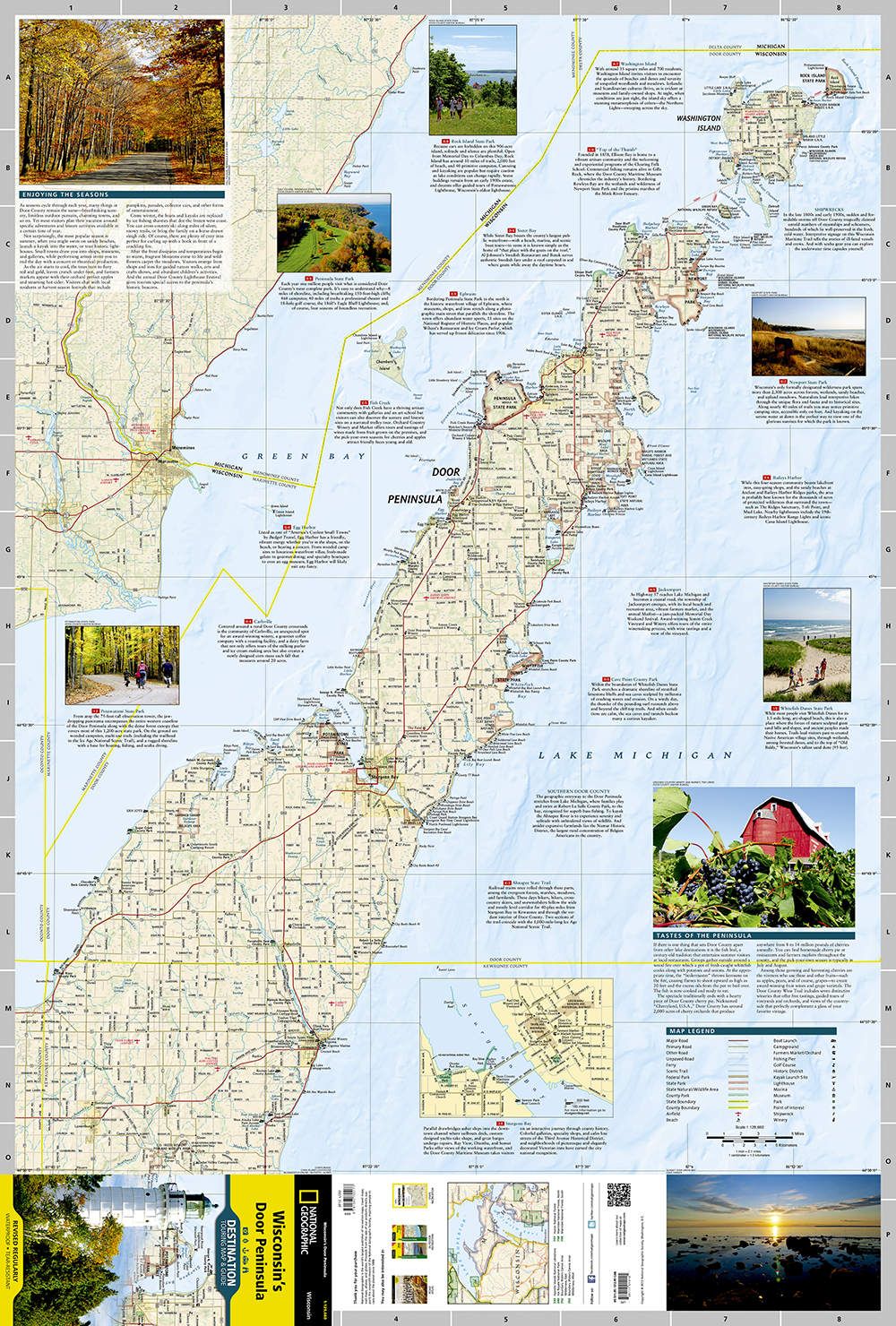 Wisconsin S Door Peninsula Destination Map