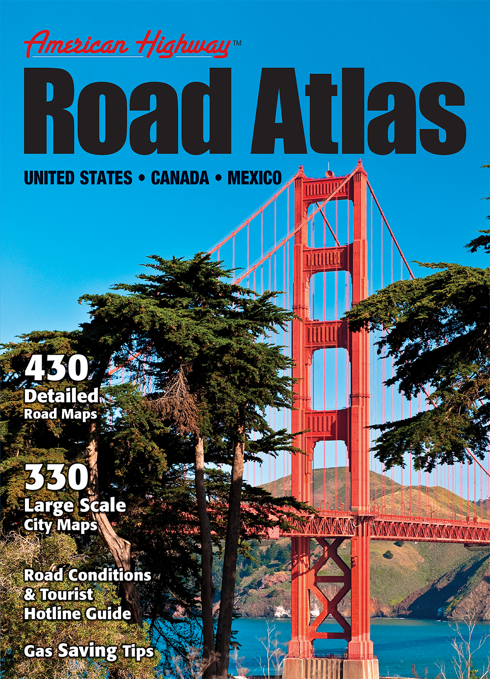 American Highway Road Atlas  Large Format